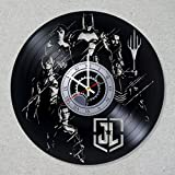 Vinyl Record Wall Clock Justice League Superhero Batman Wonder Superman Woman Flash Aquaman decor unique gift ideas for friends him her boys girls World Art Design For Sale
