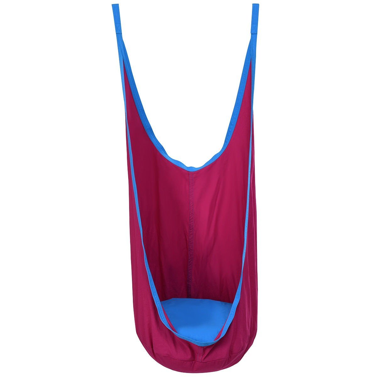 Lianyu Kids Hammock Pod Swing Seat Hanging Chairs, Detachable Cushion, 100% Cotton Canvas for Indoor and Outdoor (Rose) by Lianyu