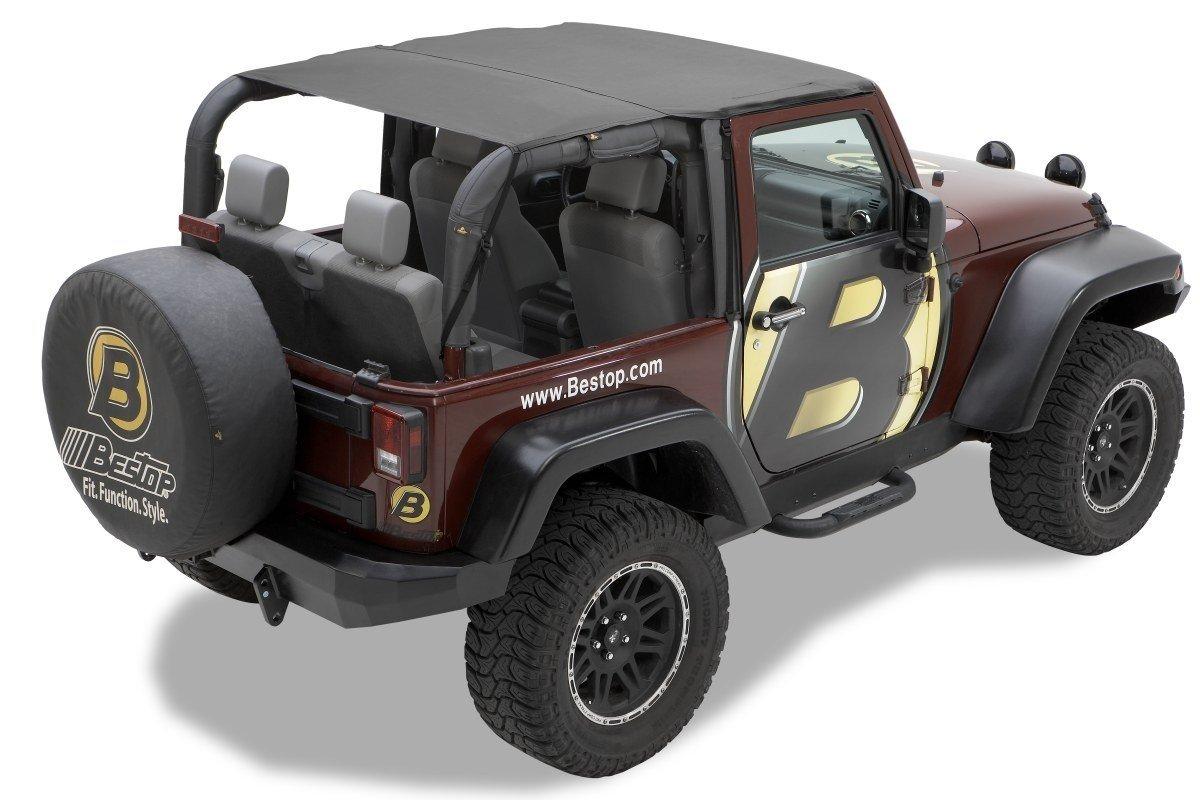 Bikini header version:Safari, couleur: Black diamond, Jeep Wrangler JK 2 portes Jeeper Store