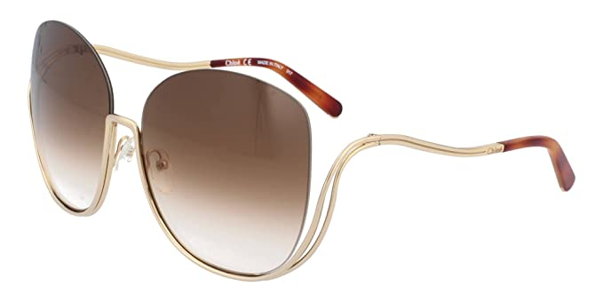 Chloé Ce125s, Gafas de sol para Mujer, Gold/Havana 64 ...