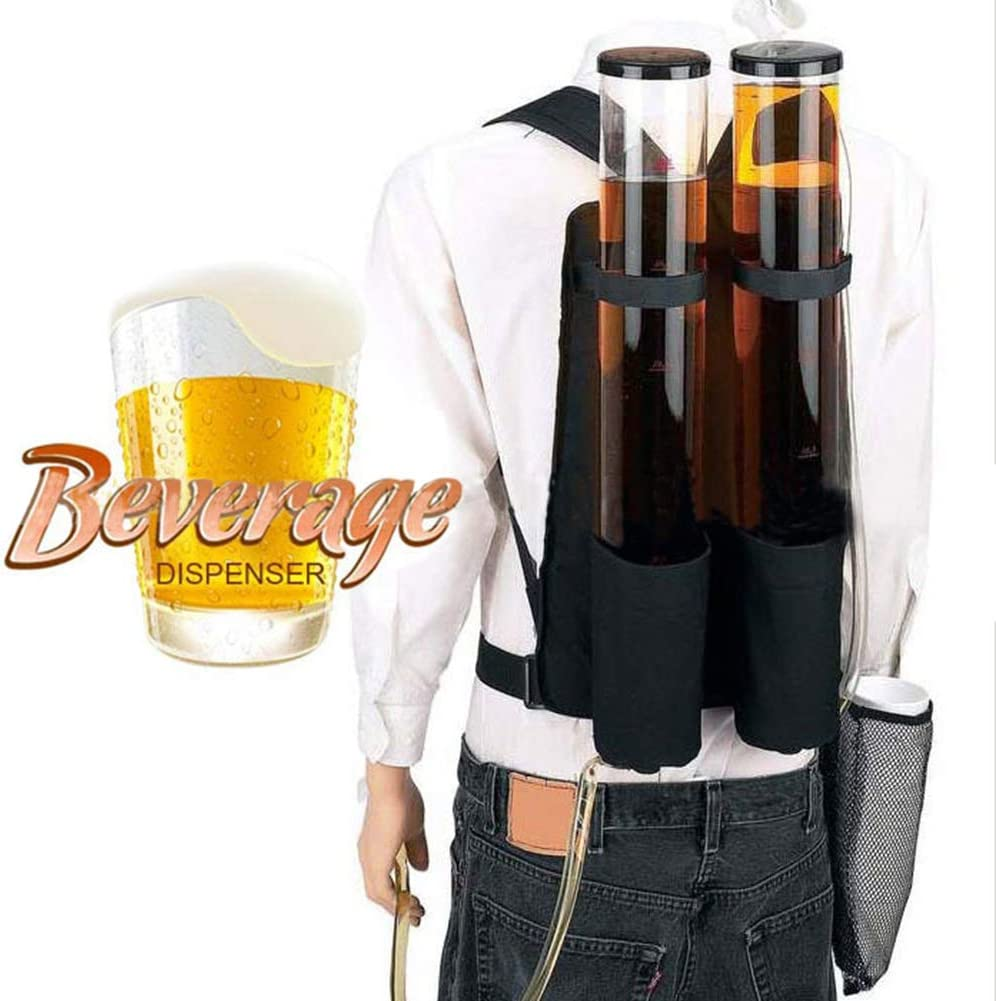 HOUSHIYU-521 Doble Tanque Doble Cerveza Y Bebida Dispensador Mochila, Bebida Portátil Mochila Dispensadora De Alcohol De Cerveza - Dispensador De Licor