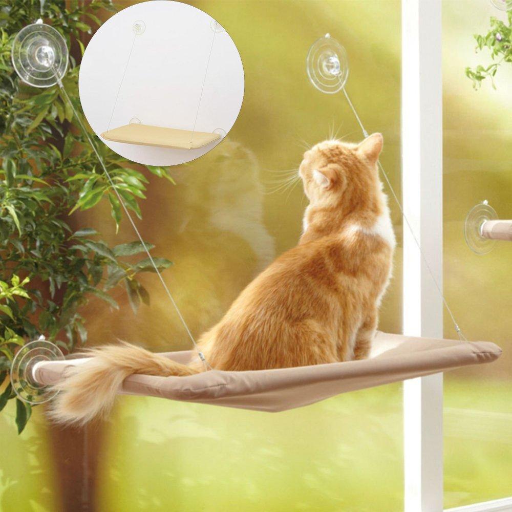 Toonol Cat Window Perch 20KG Cat Sunny Seat Window Hammock Cushion Bed Hangin..