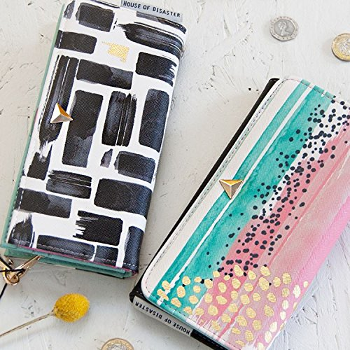 Maia Gifts Disaster Designs Paint Strips Black White Wallet ...