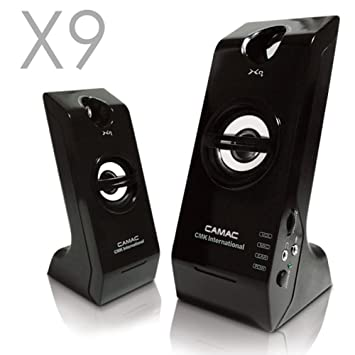 Altavoces Camac cmk-x9 Speaker 2.0 PC portátil portátil Mac estéreo USB 400 W: Amazon.es: Electrónica