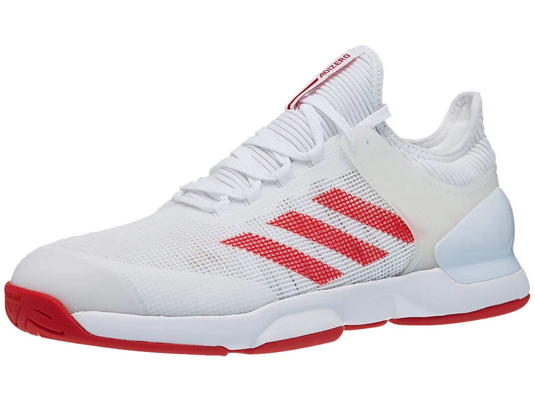 adidas Men's Adizero Ubersonic 2 Tennis Shoe, White/Active Red (Size 12 US) by adidas