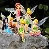 BUNITA,6pcs/Set Cartoon Mini Flying Flower Fairy Miniature...