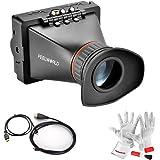 Feelworld E350 3.5 インチEVF電子ビューファインダー、BMPCCをサポート、Canon 5d Mark II III7D 60D、Nikon D800 D4、 Panasonic GH2/AG-AF100、 Sony FS700などのHDMI出力カメラ対応