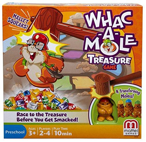 Mattel Games Whac a Mole Treasure Game product image