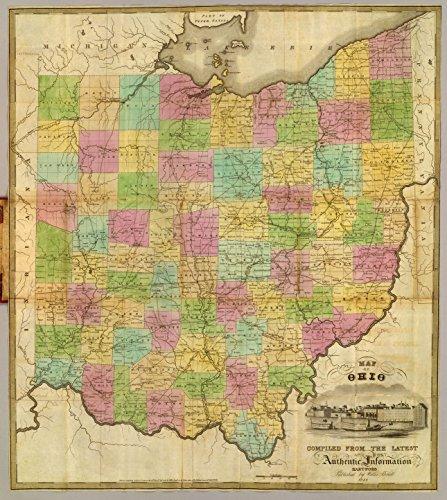 Ohio Antique Map - 3