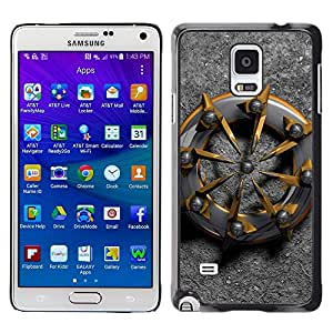 Be Good Phone Accessory // Dura Cáscara cubierta Protectora Caso Carcasa Funda de Protección para Samsung Galaxy Note 4 SM-N910 // ship abstract metal biker gold platinum