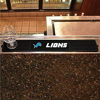 FANMATS - 13985 - NFL - Detroit Lions Drink Mat 3.25x24