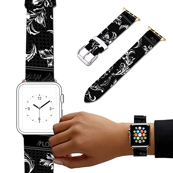 Amazon.com: For Apple Watch, Natural color Floral Printed ...