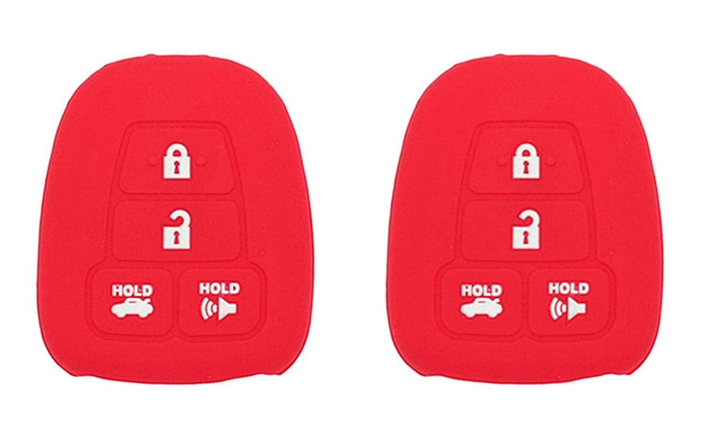 KAWIHEN Silicone Key Fob Protector Cover Fit for Scion FR-S Tc Toyota Avalon Camry Corolla Highlander RAV4 Venza Yaris HYQ12BDM HYQ12BEL HYQ12BDP