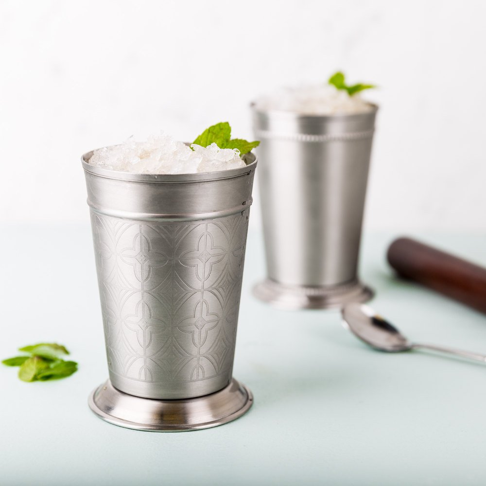 World Tableware JC-26 15 oz. Mint Julep Cup with Etched Detailing