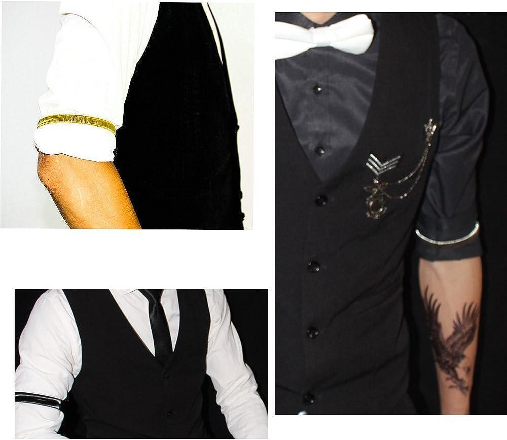 Brazalete elástico para sujetar mangas de camisa de Snowsun ...