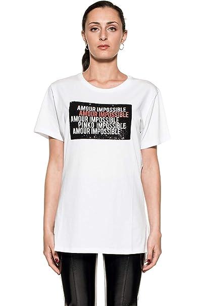 Pinko 3U10G5-Z1R5 T Shirt Donna  Amazon.it  Abbigliamento baa16f16703