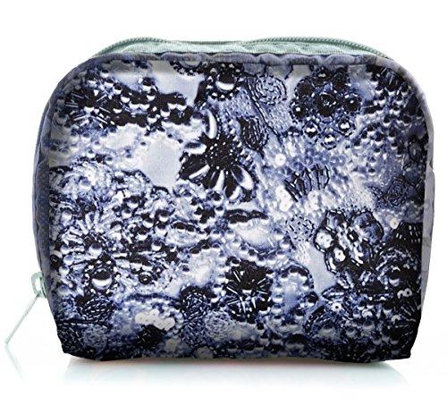 - LeSportsac Women's Classic Square Cosmetic Case (Adorn Grey)