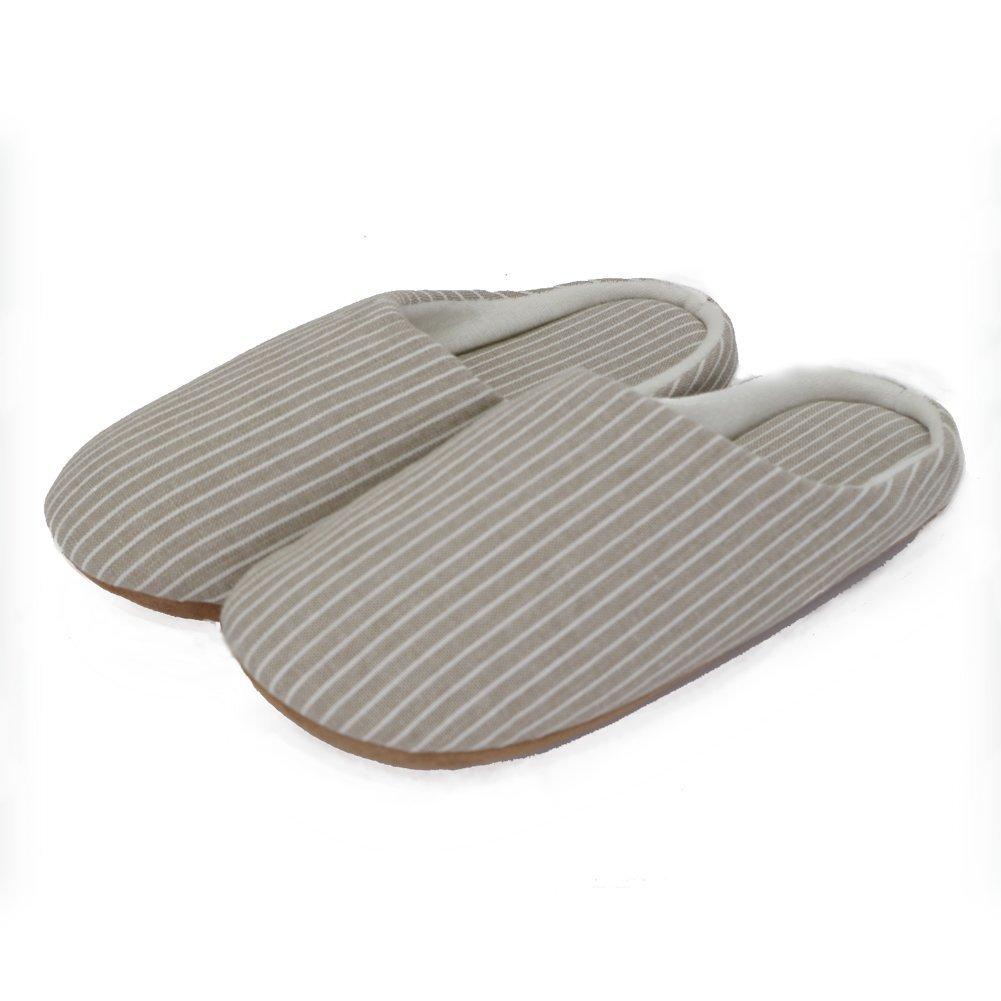 Unisex Slippers House Shoes Indoor Memory Foam Comfortable Cotton Winter Non-Slip Warm Soft Thick Sole White US Women7-7.5/Men5.5-6