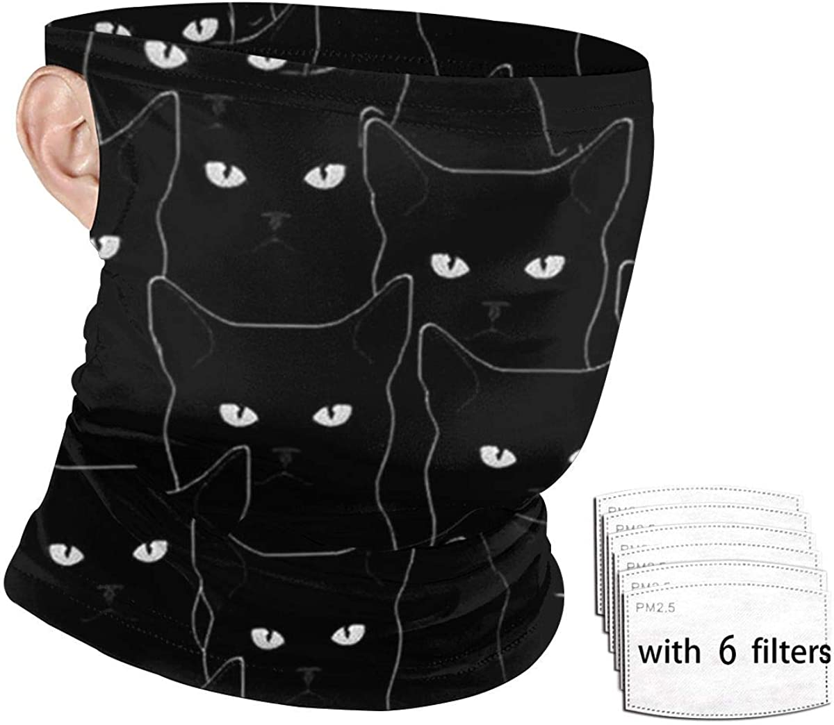 Bandanas Headwrap White Black Brown Cat Balaclava