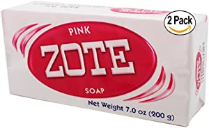 Zote Laundry Soap Bar Pink 7oz 2-Pack
