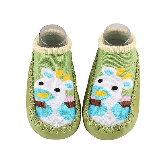 Sencillo Vida Calcetines Socks Antideslizantes Bebe con Diseño de Animales de Dibujos Animados Imprimir para Recién Nacido Niñas Niños, Baby Socks Slipper ...
