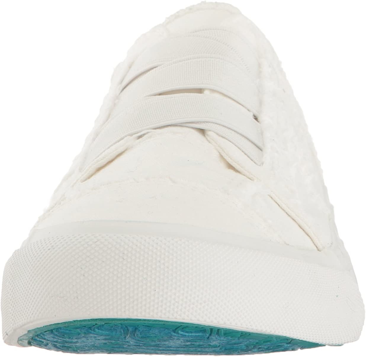 Blowfish Womens Marley Fashion Sneaker White Color Washed Canvas 8.5 M US