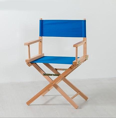 DCCYZ-YJ Silla de Madera de Director Silla Plegable de Lona ...