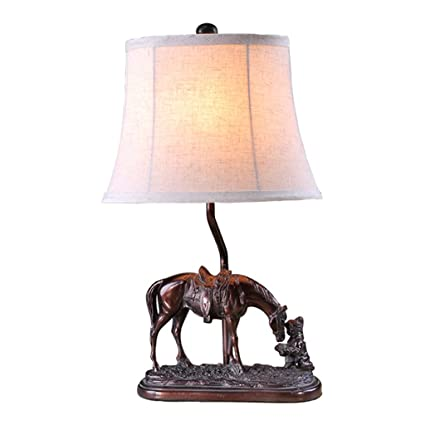 Amazon xuexue horses desk lamp resin lamp body and cloth lamp xuexue horses desk lamp resin lamp body and cloth lamp shade cap type e27 aloadofball Choice Image