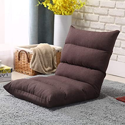 WUTRBYZ Tatami Floor chair,Lazy sofa Padded Foldable floor seating With back support Gaming Meditation-A