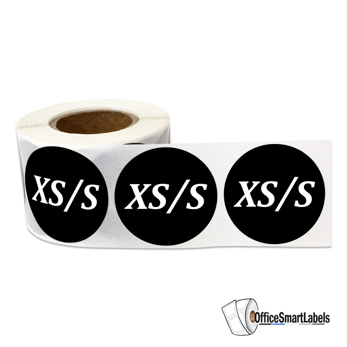 S 2700 Labels SOJITEK Size XS M XL Sticker Bundle for Retail Store Clothing Apparel Brand L 1.25 Inch Round Black - 9 Rolls