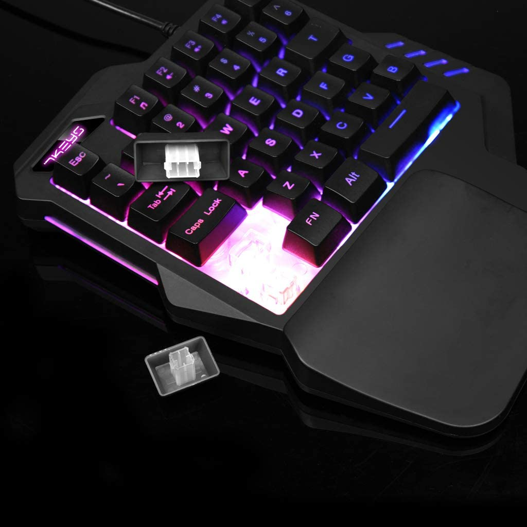 ForHe Mechanical Caming Keypad 2 Types Optional G30 Wired 35 Keys One//Single Hand Gaming Keypad LED Backlight USB Wired Keyboards for PUGB LOL
