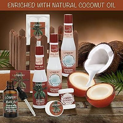 Organic Spa Gift Basket Heavenly Coconut Scent - Luxury 16 Piece All Natural Bath & Body Set, Includes Coconut Oil, Organic Unrefined Shea Butter, Back Scrub, 2 Pure Soaps, 6 Bath Bombs & More!