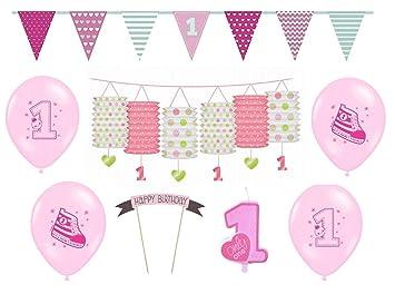 Feste Feiern Kinder Geburtstagsdeko Erster 1 Geburtstag 8 Teile