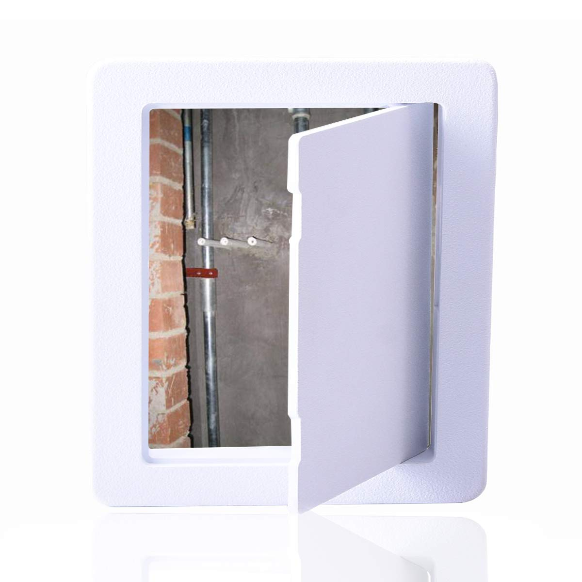 Reinforced Hinged Plastic Access Panel for Drywall Ceiling 8 x 8 Inch White Access Doors Reinforced Hinged Access Panel by MaRoner