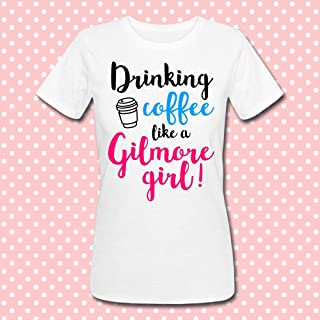 T-shirt donna Drinking Coffee like a Gilmore Girl, Una Mamma per Amica inspired, serie tv