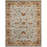 Safavieh Heritage Collection HG822A Handcrafted Traditional Oriental Blue and Beige Wool Area Rug (96 x 136)