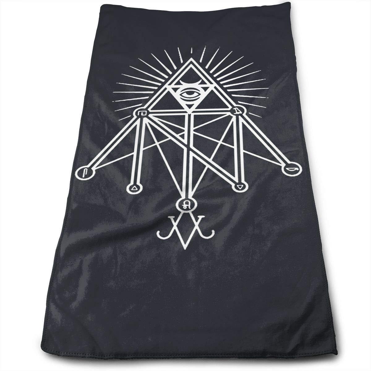 WCMBY Illuminati Occult Geometric Satanic Towel