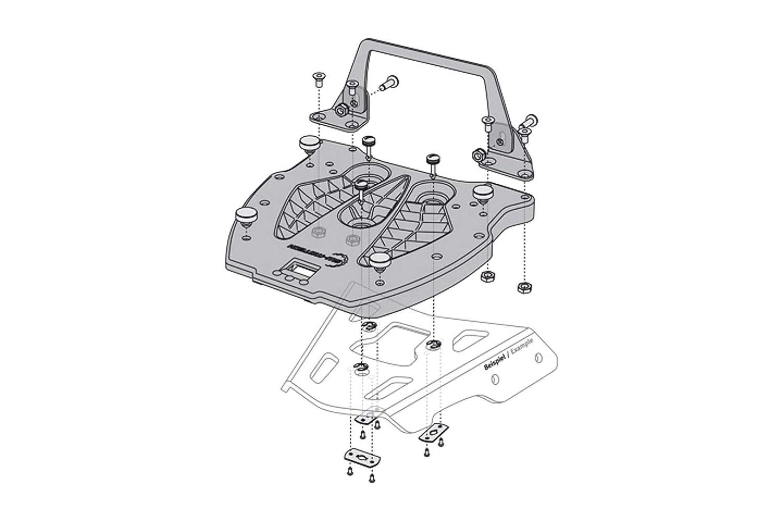 SW Motech GPT.00.152.400 Adapter Plate for ALU-Rack Mehrfarbig OS