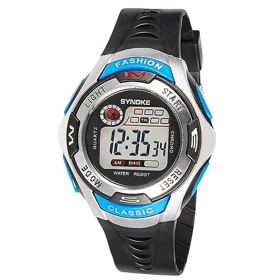 amstt Niño Niños Reloj De Pulsera Alarma Digital de Pulsera Relojes Watch Silicona Movimiento Agua Densidad Relojes: Amazon.es: Relojes