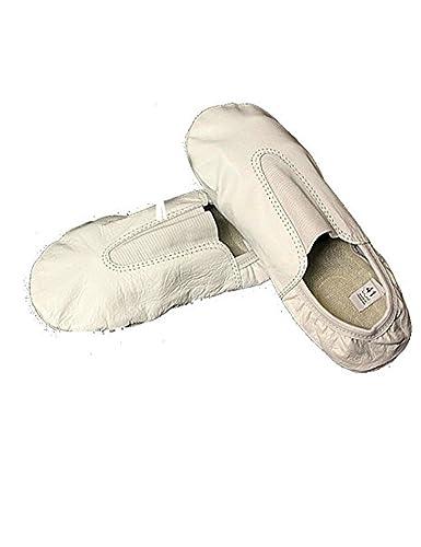 b9da138cf2eb SystemsEleven Cuir Blanc Chaussures Chaussons Trampoline (Sport) de  Gymnastique d'entraînement Danse Danse