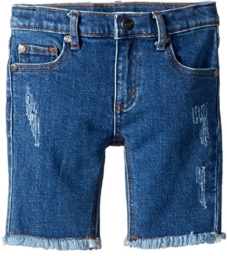 Appaman Kids Baby Girl's Rainbow Jean Shorts (Toddler/Little Kids/Big Kids) Medium Blue Wash 4 US (Rainbow Denim Shorts)