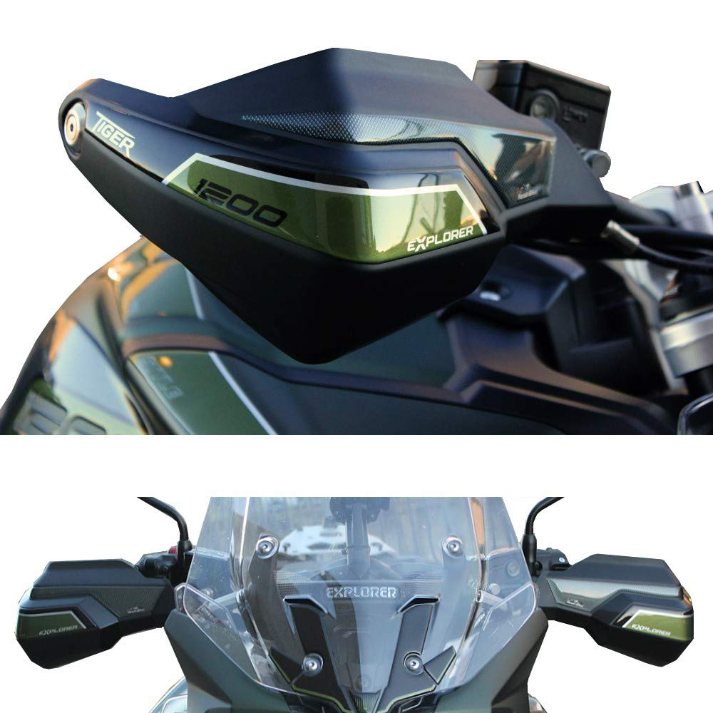 Adhesivos 3D Protecci/ón Paramani para Triumph Tiger Explorer 1200-2016-2017 Metal Verde