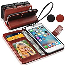 APPLE iPHONE 5S/5 - GBOS® Genuine Real Rich Leather Stand Wallet Flip Case Cover / Quality Slip Pouch / Soft Phone Bag (Specially Manufactured - Premium Quality) Antique Leather Case ( Brown )