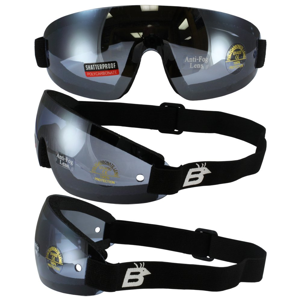 Birdz Eyewear Wing Skydive Skydiving Sports Goggles with Blue Lenses Anti-fog Coated One Piece Lens 4333050675