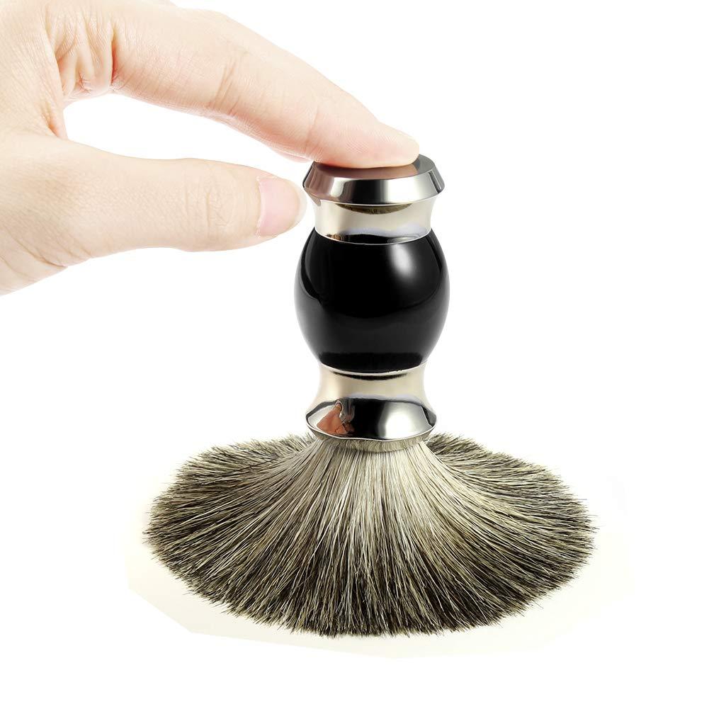 Brocha de afeitar GRUTTI, brocha de afeitar del pelo del tejón ...
