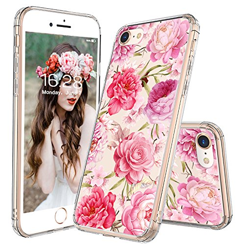 huge selection of a609c be145 iPhone 8 Case, iPhone 7 Clear Case, MOSNOVO Girls Blossom Floral Flower  Pattern Clear Design Transparent Back Phone Case with TPU Bumper Case Cover  ...