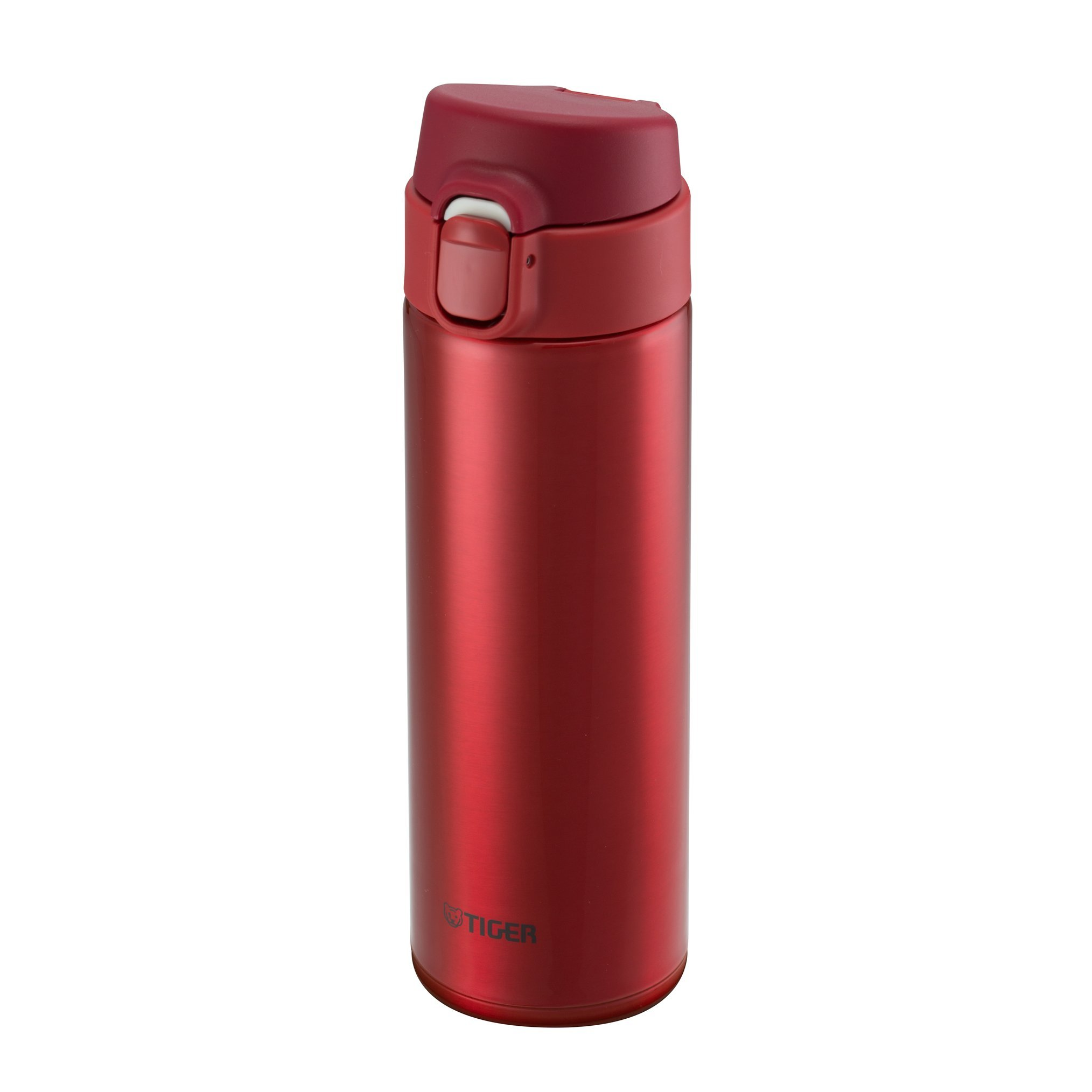 Tiger MMY-A048 RY Vacuum Insulated Stainless Steel Travel Mug, Double Wall, Flip Open Lid with Lock Button, 16 Oz/0.48 L, Red