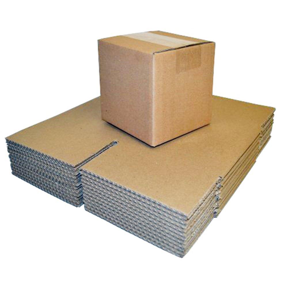 Paquete de 50 cajas de cartón para embalaje, 200 x 150 x 150 mm: Amazon.es: Oficina y papelería