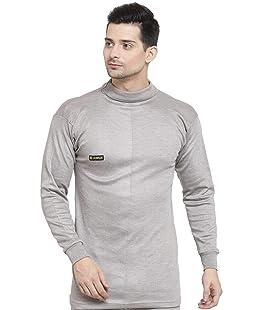 UZARUS Men's Cotton Thermal Top Beige