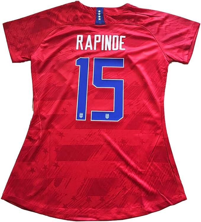 Womens #15 Rapinoe Womens National Team Womens World Cup Jersey Home 19-20 Soccer Jersey White M